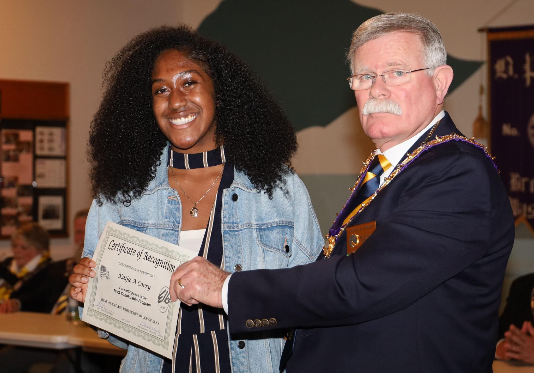 Kaija A Corry - MVS Scholarship