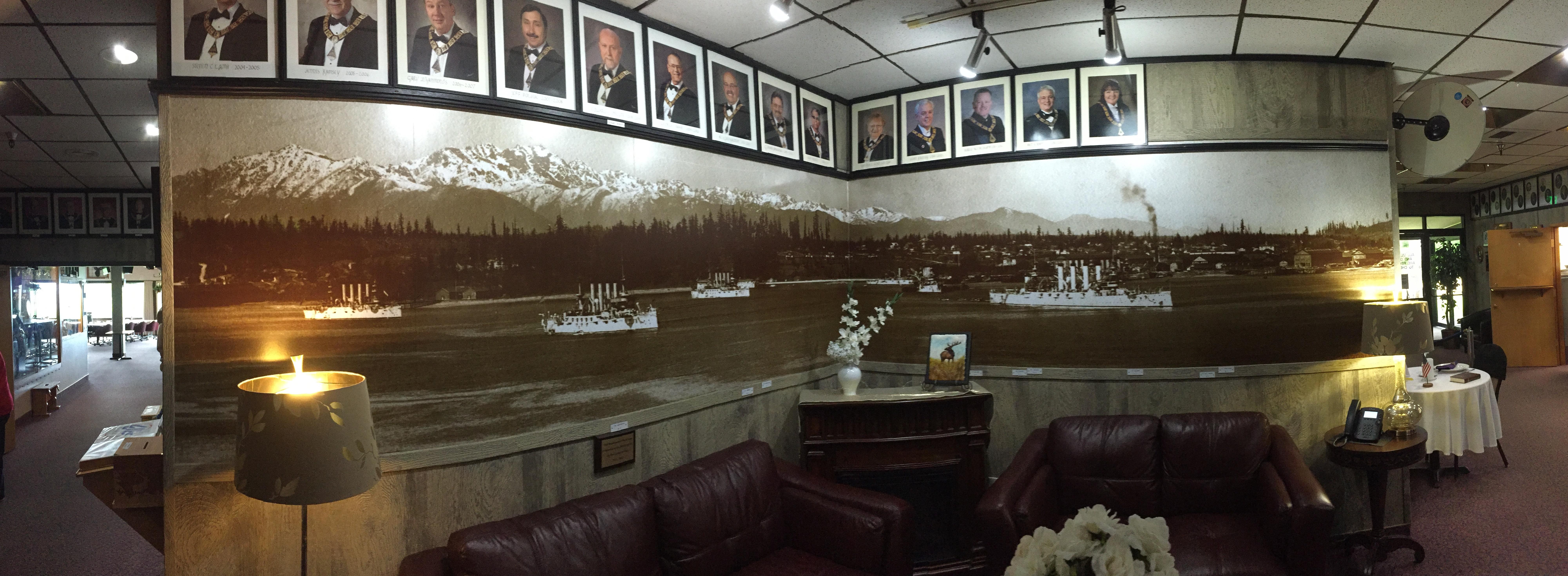naval ships wall